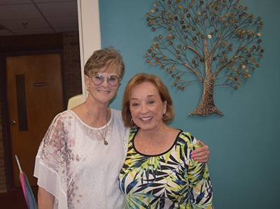 Cheryl Doggett with Patty Maggard