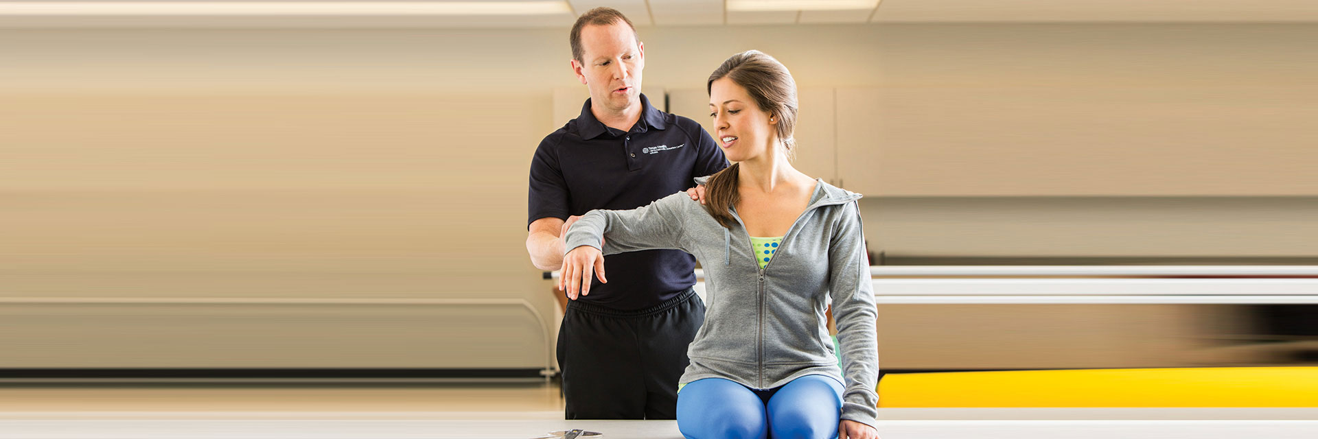 Physical Therapist with Patients