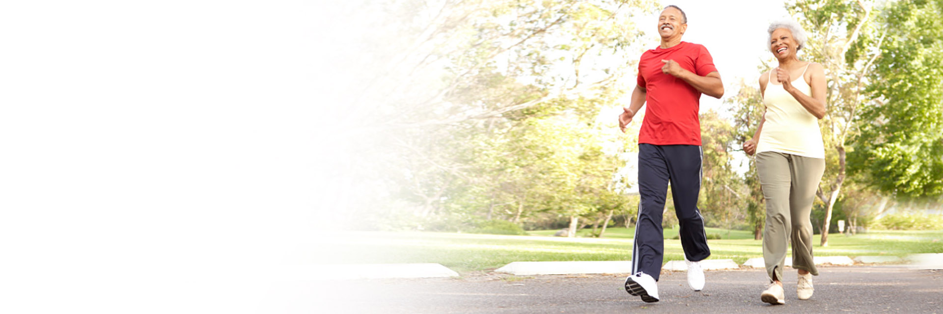 Mature couple jogging in Park