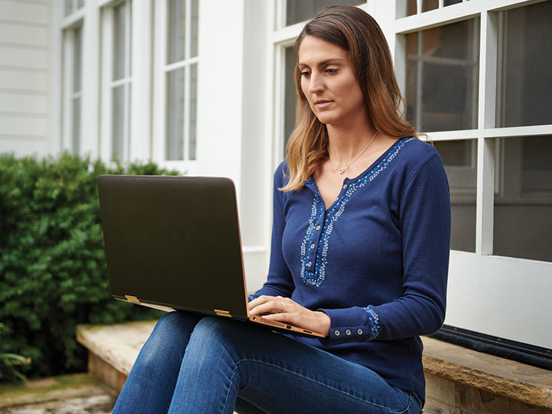 Woman on laptop